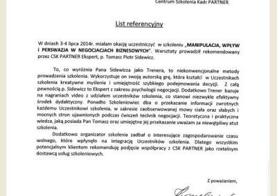Opinie_Tomasz_sidewicz_szkolenie manipulacje_negocjacje_Nexteer