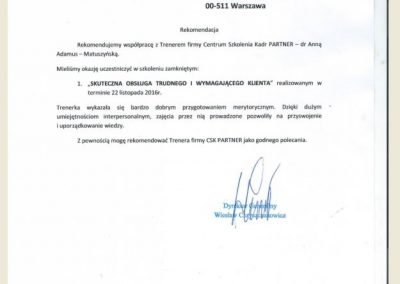 Referencje Anna Adamus Matuszyńska_ CSK PARTNER_ SKF