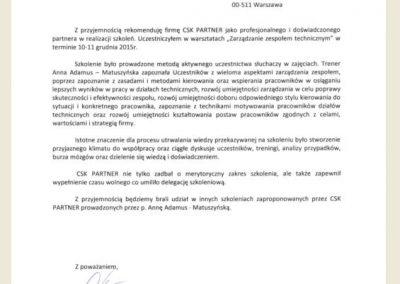 Referencje_Opinie_ Anna Adamus Matuszyńska CSK Partner - EDF