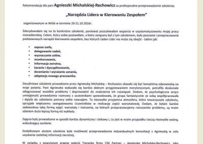 CSK Parner_Referencje_Opinie_Agnieszka Michalska echowicz_EVIO