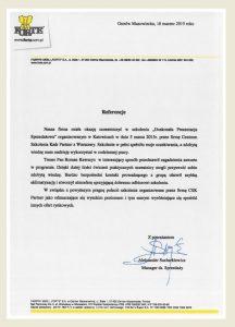 Referencje dla CSK-Partner Roma Kawszyn Adam Szaran_Forte