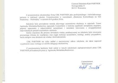 Referencje_Opinie_CSK PARTNER_Agnieszka Michalska Rechowicz_Froneri