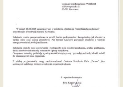 Referencje_Opinie_CSK Partner_Romasz Kawszyn_Adam Szaran_szkolenie_Kler
