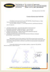 Referencje_Opinie_CSK Partner_Romasz Kawszyn_Adam Szaran_szkolenie_Riwal