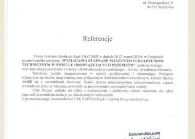 Referencje_opinie_CSK PARTNER_Arkadiusz Maciaś_Relpol