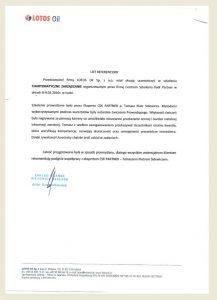 Referencje_Opinie_CSK PARTNER_Toamsz Sidewicz_Zarządzanie_LOTOS